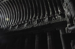 Light provision given by the 6th and 10th century people to Buddha Temple at Ellora Caves, Aurangabad, Maharashatra. 