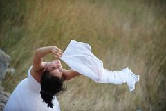 Light and pure (bride portrait) Royalty Free Stock Image