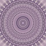 Light purple bohemian mandala fractal background - round symmetrical vector pattern design from concentric oval shapes Stock Photo
