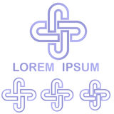 Light purple cycle logo design set Stock Photo