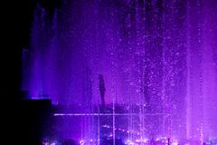 In the light of purple drops stock image