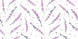 Free Light Purple Lavender Repeat Pattern Design. Stock Image - 123342771