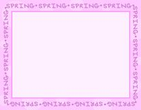 Light Purple Spring Frame or Border Royalty Free Stock Image