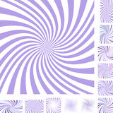 Light purple and white spiral background set Royalty Free Stock Photo