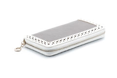 Light purse on white background Royalty Free Stock Images