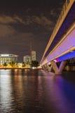 Light Rail Bridge at Tempe, AZ royalty free stock photography