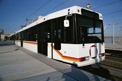 Light rail commuter train Royalty Free Stock Image