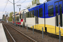 Light rail Max, Gresham OR. Stock Photo