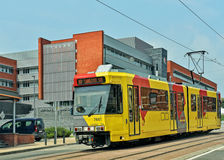 Light-rail Metro or Premetro tram in Charleroi Stock Image