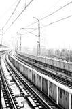 Light Rail in Rain Stock Images