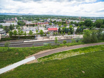 light rail station Στοκ Εικόνα