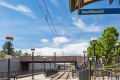 light rail station Στοκ εικόνα με δικαίωμα ελεύθερης χρήσης