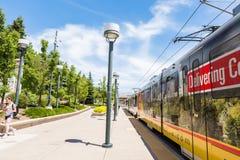 light rail station Στοκ Φωτογραφία