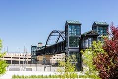 Light rail station Stock Photo