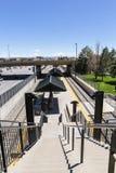 Light rail station. Greenwood Village, Colorado, USA-June 8, 2015. Arapahoe at Village Center light rail station Royalty Free Stock Photography