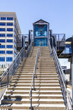 Light rail station Royalty Free Stock Images