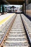 Light rail station. Greenwood Village, Colorado, USA-June 8, 2015. Arapahoe at Village Center light rail station Stock Image