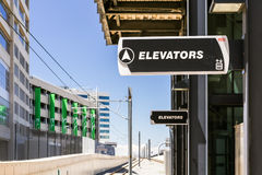 Light rail station Stock Image