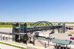 Light rail station. Greenwood Village, Colorado, USA-June 8, 2015. Arapahoe at Village Center light rail station Royalty Free Stock Images