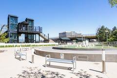 Light rail station. Greenwood Village, Colorado, USA-June 8, 2015. Arapahoe at Village Center light rail station Stock Images