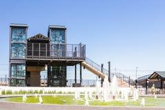 Light rail station Royalty Free Stock Image