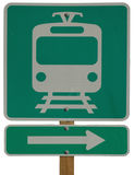 Light Rail Station Right. Sign Royalty Free Stock Image