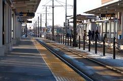 Light Rail Station in Saint Paul Minnesota Stock Photo