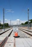 Light rail tracks Stock Photography
