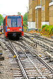 Light rail train Stock Photo