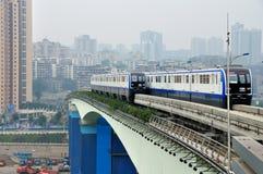 Light Rail Train Stock Photography