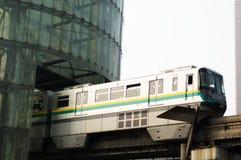 Light rail train. City Center Light Rail Train Stock Image