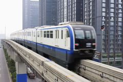 Light rail train. China Chongqing 3 line light rail train Royalty Free Stock Image