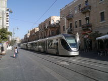 Light rail train in Jerusalem Royalty Free Stock Image