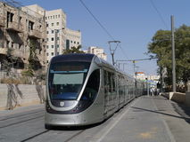 Light rail train in Jerusalem Stock Image