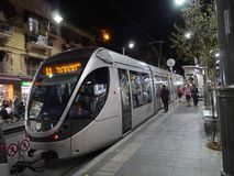 Light rail train in Jerusalem Royalty Free Stock Images