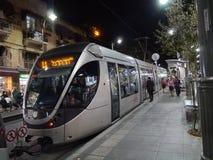 Light rail train in Jerusalem royalty free stock images