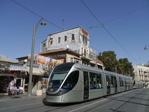 Light rail train in Jerusalem Royalty Free Stock Photo