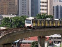 Light Rail Train in Kuala Lumpur, Malaysia Royalty Free Stock Photography