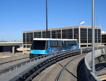 Light Rail or Tram Transportation. At an airportn to transfer people between terminals royalty free stock image