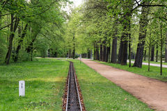 Light railway in park Royalty Free Stock Photography