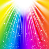 Light of the rainbow vector illustration