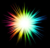 Light with Rainbow Colours Royalty Free Stock Image