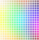 Light rainbow rounded mosaic background over white square Vector Illustration