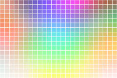 Light rainbow square mosaic background over white Royalty Free Illustration