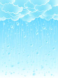 Light raindrops weather background. Vector illustration of a beautiful light summer shower rainy weather background Royalty Free Stock Image