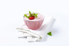 Light raspberry yogurt Stock Photos