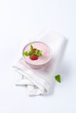 Light raspberry yogurt Royalty Free Stock Photography