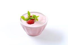 Light raspberry yogurt Royalty Free Stock Photo