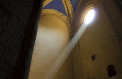 Light ray. The church of St. Andrew, Orvieto Stock Photos