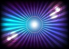 Light Rays. Abstract Background - Blue and Violet Rays of Light / Vector stock illustration